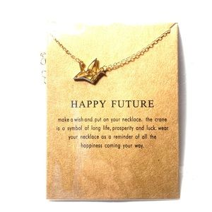 Jewelry - Crane Origami Necklace With Gift Giving Card